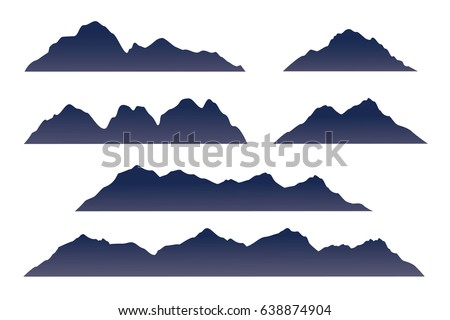 Mountain Silhouette mountain silhouette icon stock vector 244269322 - shutterstock