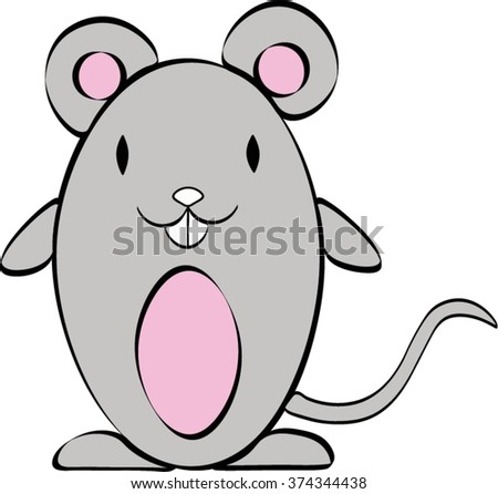 Cute Mouse Stock Vector 591988421 - Shutterstock