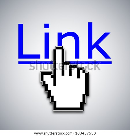 Mouse cursor clicks the link