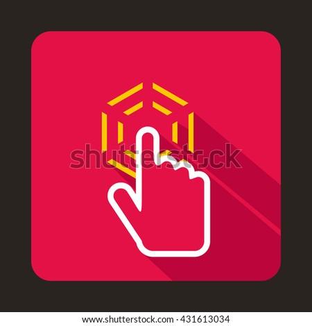 Mouse cursor hand icon - stock vector