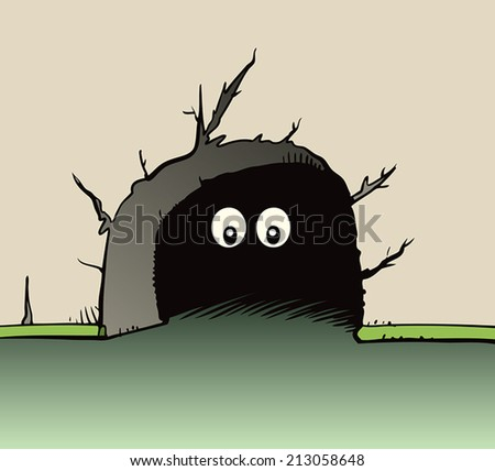 Mouse eyes - stock vector