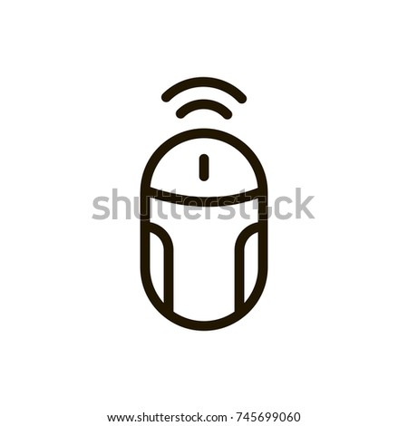 Mouse Flat Icon Single High Quality Stock Vector 745699060