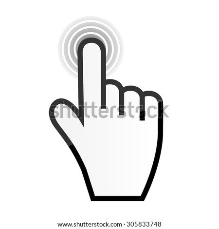 Mouse hand cursor vector illustration - stock vector