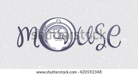 Mouse logo - stock vector
