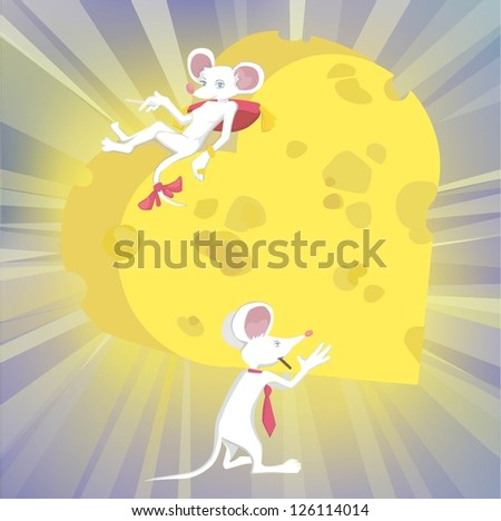Mouse love - stock vector