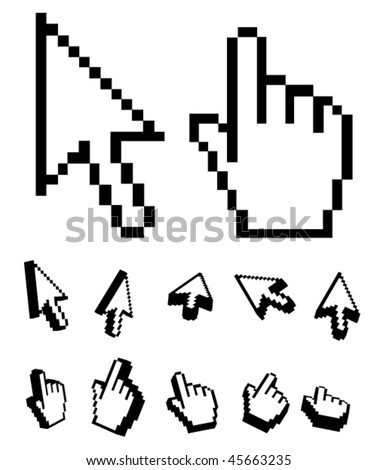 Mouse pointers - stock vector