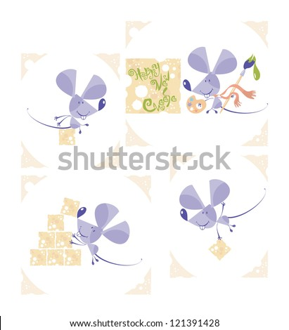 Mouse set, 2, vector