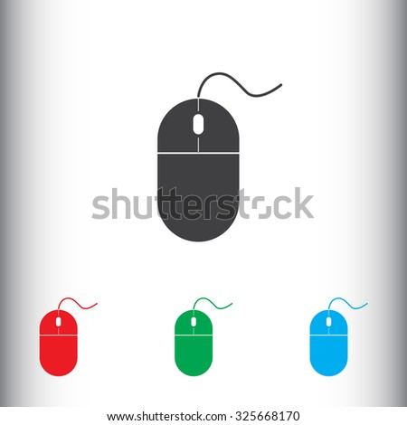 Mouse sign icon, vector illustration. Flat design style for web and mobile.