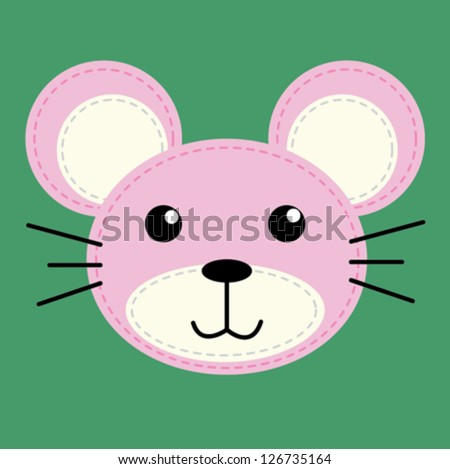 mouse / T-shirt graphics / cute cartoon characters / cute graphics for kids / Book illustrations / textile graphic - stock vector