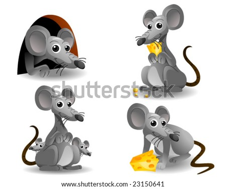 Mouse - Vector - stock vector