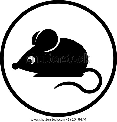 Mouse vector icon - stock vector