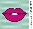 mouth design over dotted background vector illustration - stock