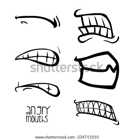 how to draw angry lips