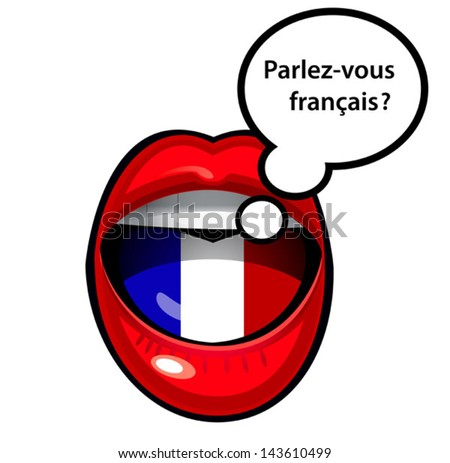 how to say mouth in french