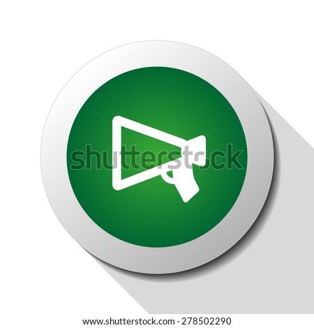 Mouthpiece (announcing), web icon. Vector design - stock vector
