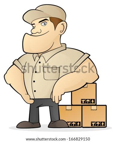Move Service - stock vector