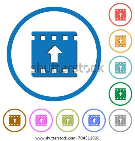 Move Movie Flat Color Vector Icons Stock Vector 704511826 Shutterstock