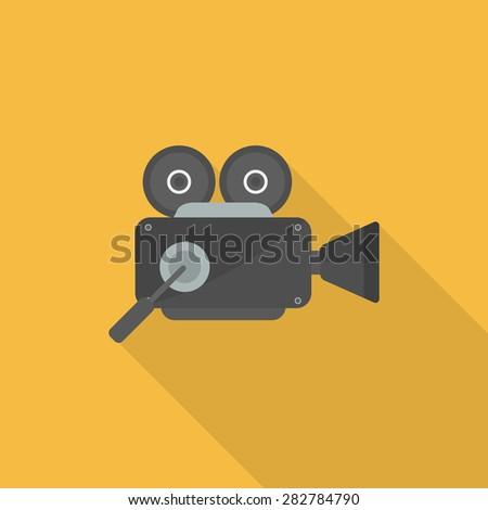 movie camera icon - stock vector
