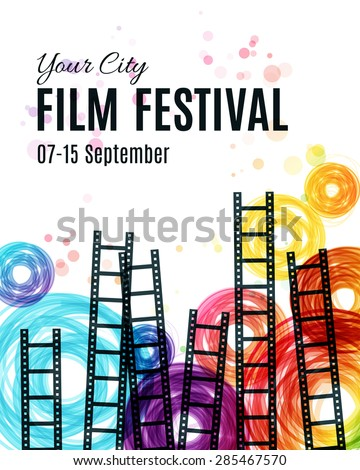 Movie cinema festival poster. Vector template  - stock vector