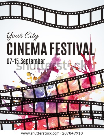 film festival brochure template - movie poster stock images royalty free images vectors