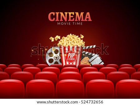 movie cinema premiere poster design vector stock vector royalty