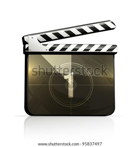 Movie clap, vector - stock vector