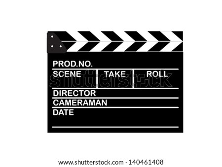 Movie clapper boards - stock vector