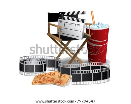 Movie director chair - stock vector