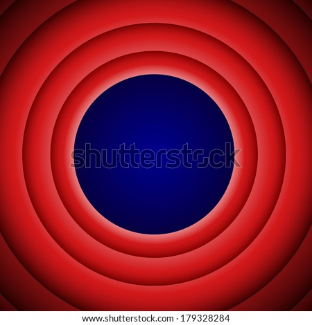 Movie end background - stock vector