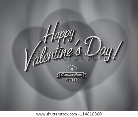 Movie ending screen - Valentine's day - Vector EPS10 - stock vector