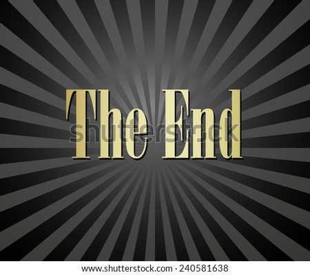 Movie ending vector screen - stock vector