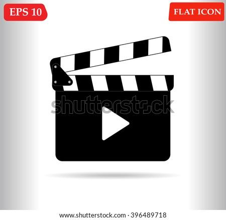 Movie icon.Cinema vector icon - stock vector