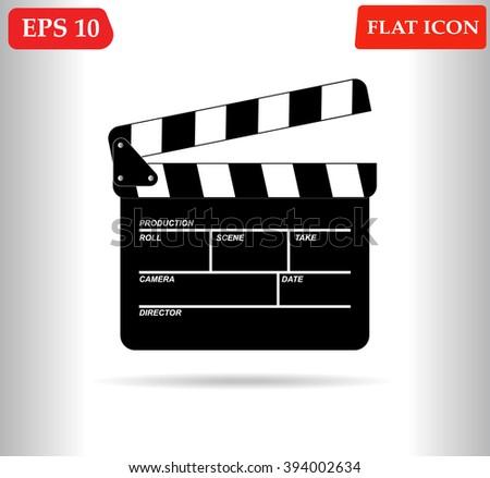 Movie icon vector  - stock vector