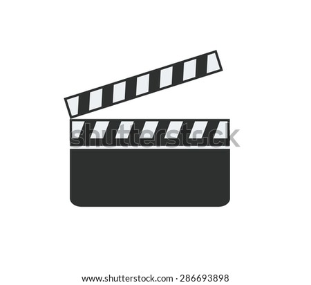 movie making single icon - stock vector