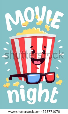 Movie Night Cinema Can Be Used For Flyer Poster Ticket Banner