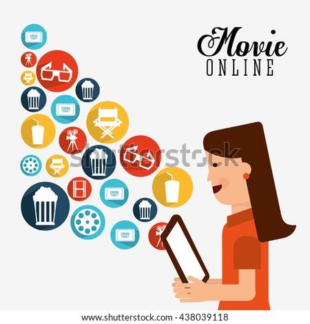 movie online design  - stock vector
