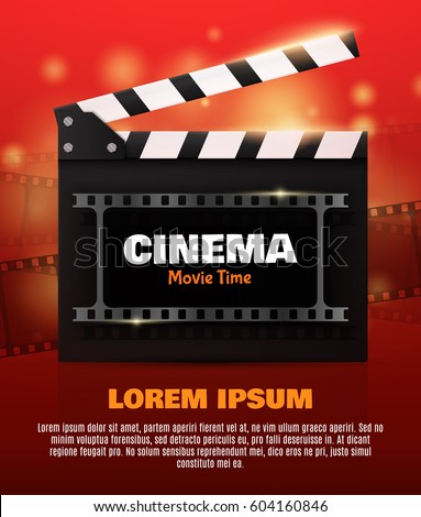 Movie Poster Flyer Template Online Cinema Stock Vector 604160846