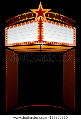 Movie premiere - stock vector
