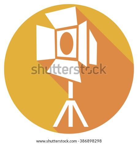 movie spot lights flat icon - stock vector