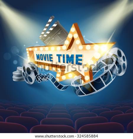 movie star light - stock vector