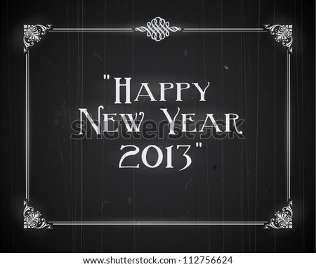 Movie still screen - Happy New Year 2013 - Editable Vector EPS10 - stock vector