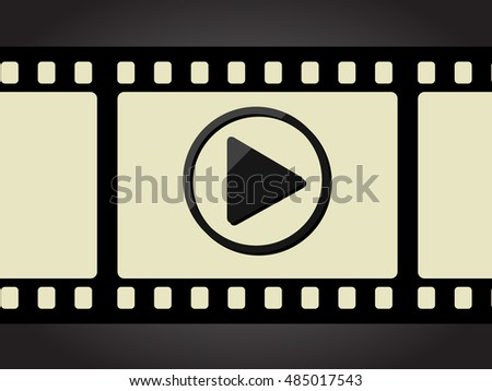 Movie strip with play button