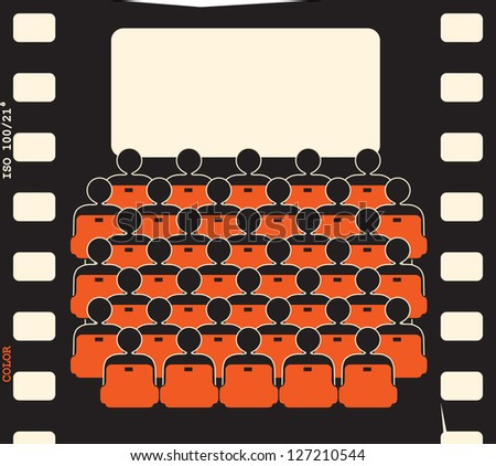 movie theater - film strip - stock vector