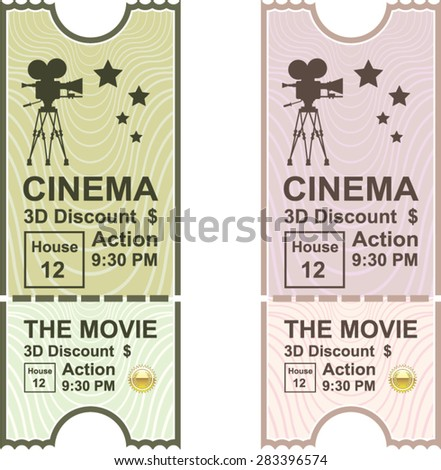 Movie Ticket vector - stock vector