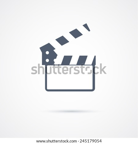 movie video icon - stock vector