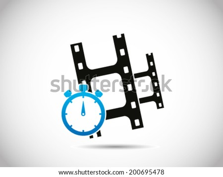 Movies Duration - stock vector