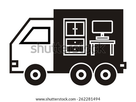 moving car - stock vector