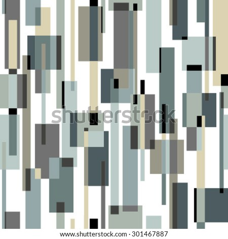 moving rectangles on white seamless pattern