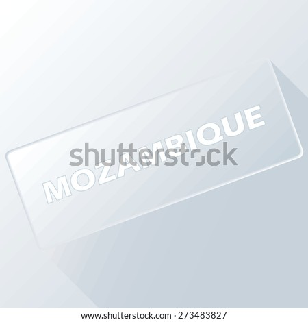 Mozambique unique button for any design. Vector illustration