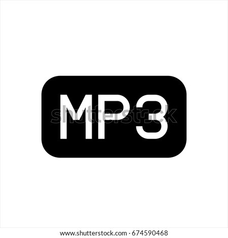 MP3 Icon In Trendy Flat Style Isolated On Background Page Symbol For Your
